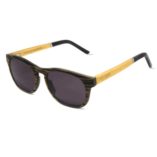 דגם Apoidea - משקפי שמש מעץ מייפל קנדי - Mr. Woodini