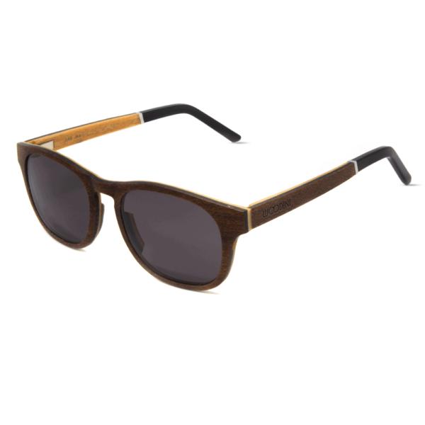 דגם Salvador - משקפי שמש מעץ מייפל בצבע חום - Mr. Woodini