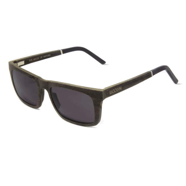 דגם Waipoua - משקפי שמש מעץ מייפל בצבע חום - Mr. Woodini