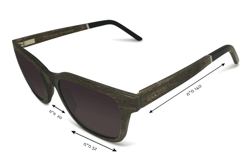 מידות משקפי שמש מעץ Sundarbans