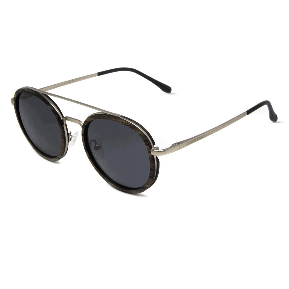 דגם Arbol - משקפי שמש ממתכת ועץ אגוז - Mr. Woodini