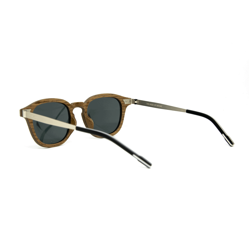 Flip Black Walnut - Wooden and metal sunglasses - Mr. Woodini