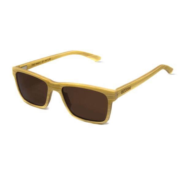 דגם Candy - משקפי שמש מעץ מייפל בצבע צהוב - Mr. Woodini