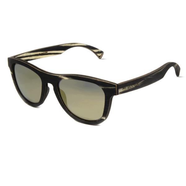 דגם Cobra - משקפי שמש מעץ זברה - Mr. Woodini