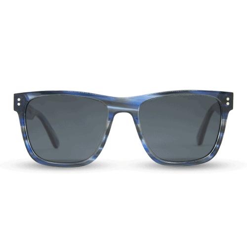 Exuma Blue Amber - משקפי שמש מאצטט ועץ