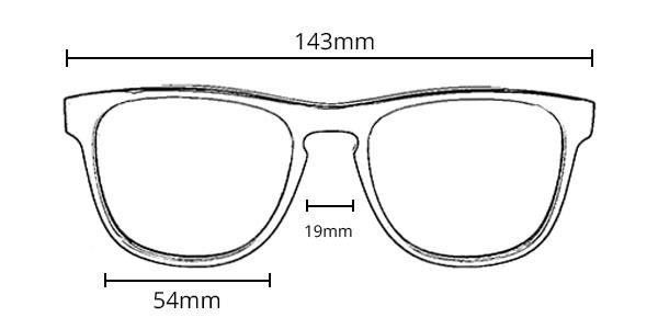 שוורץ - מידות - משקפי שמש מעוצבים מעץ ואצטט