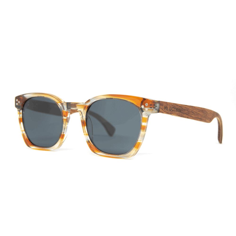 Myth Orange - משקפי שמש מעץ ואצטט - Mr. Woodini