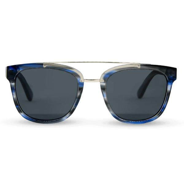 piranha blue - משקפי שמש עץ ואצטט לגברים ולנשים - Mr Woodini