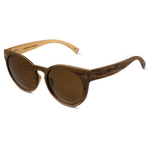 דגם Matira - משקפי שמש מעץ אדמדם ועדשות חומות - Mr. Woodini