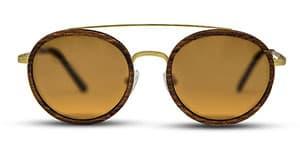 משקפי שמש מעץ ומתכת