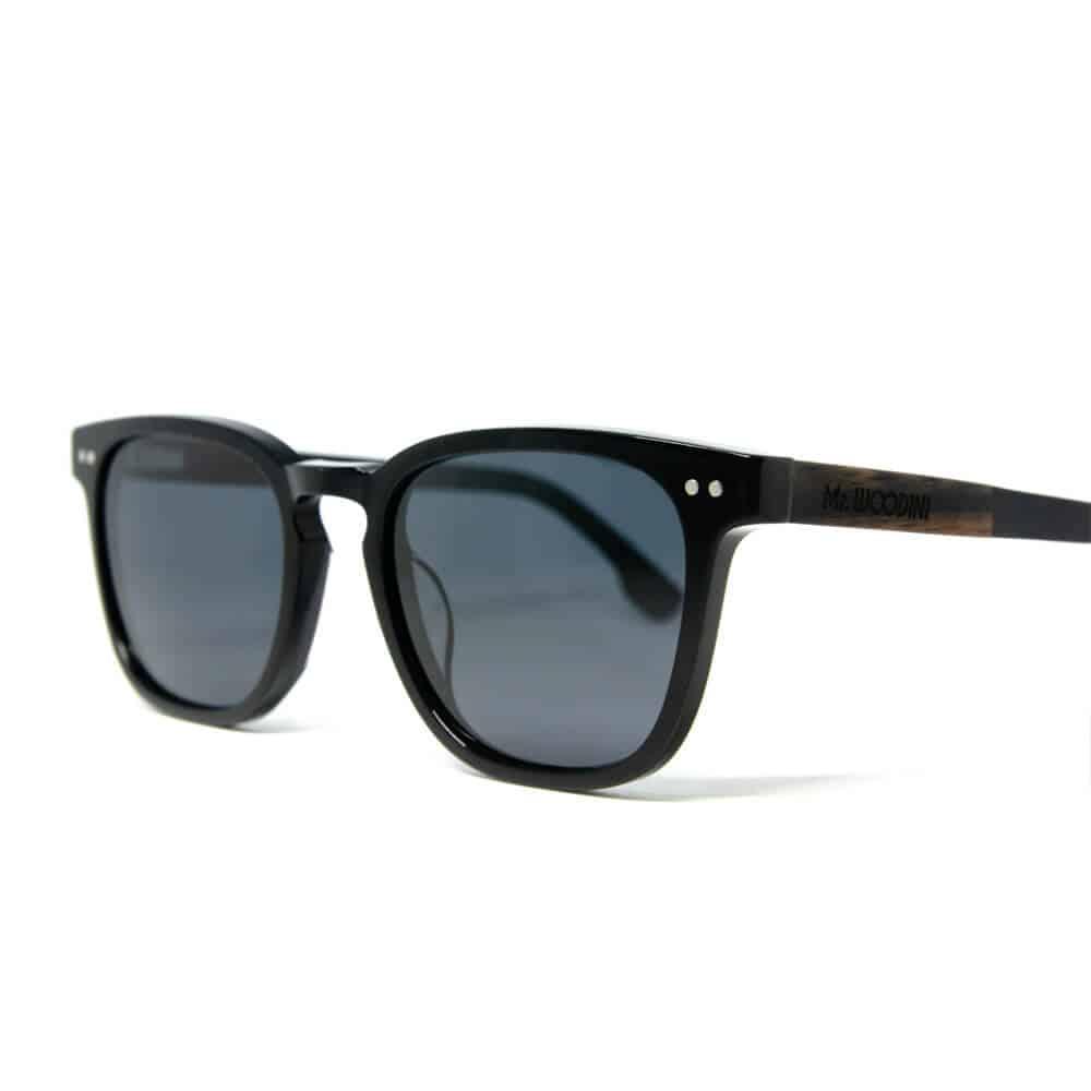 טרנטולה - משקפי שמש מאצטט שחור וזרועות עץ איכותי