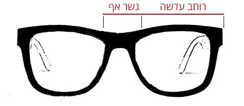 מדריך מידות משקפי שמש