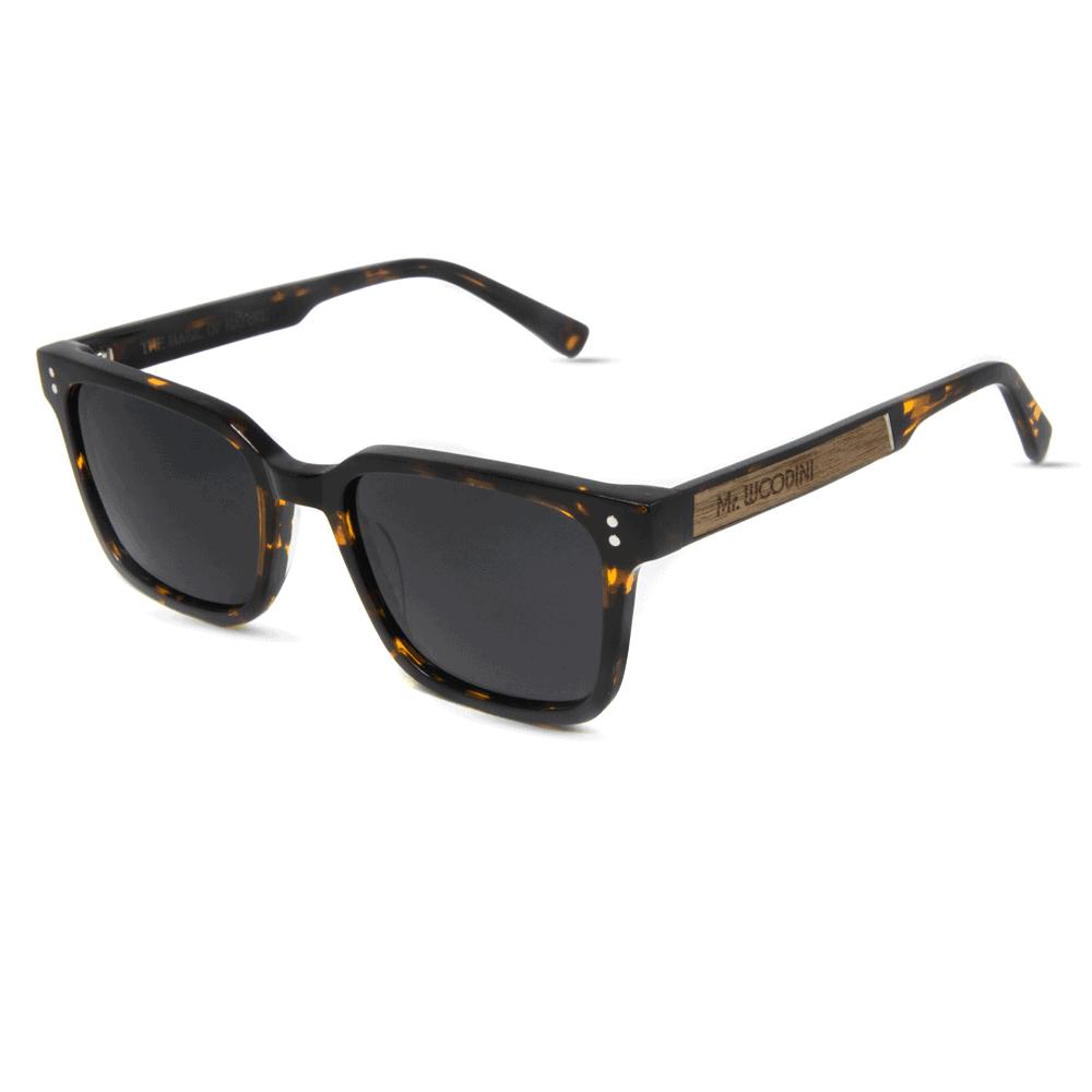 דגם Honey - משקפי שמש מאצטט ושיבוץ עץ בזרועות - Mr. Woodini