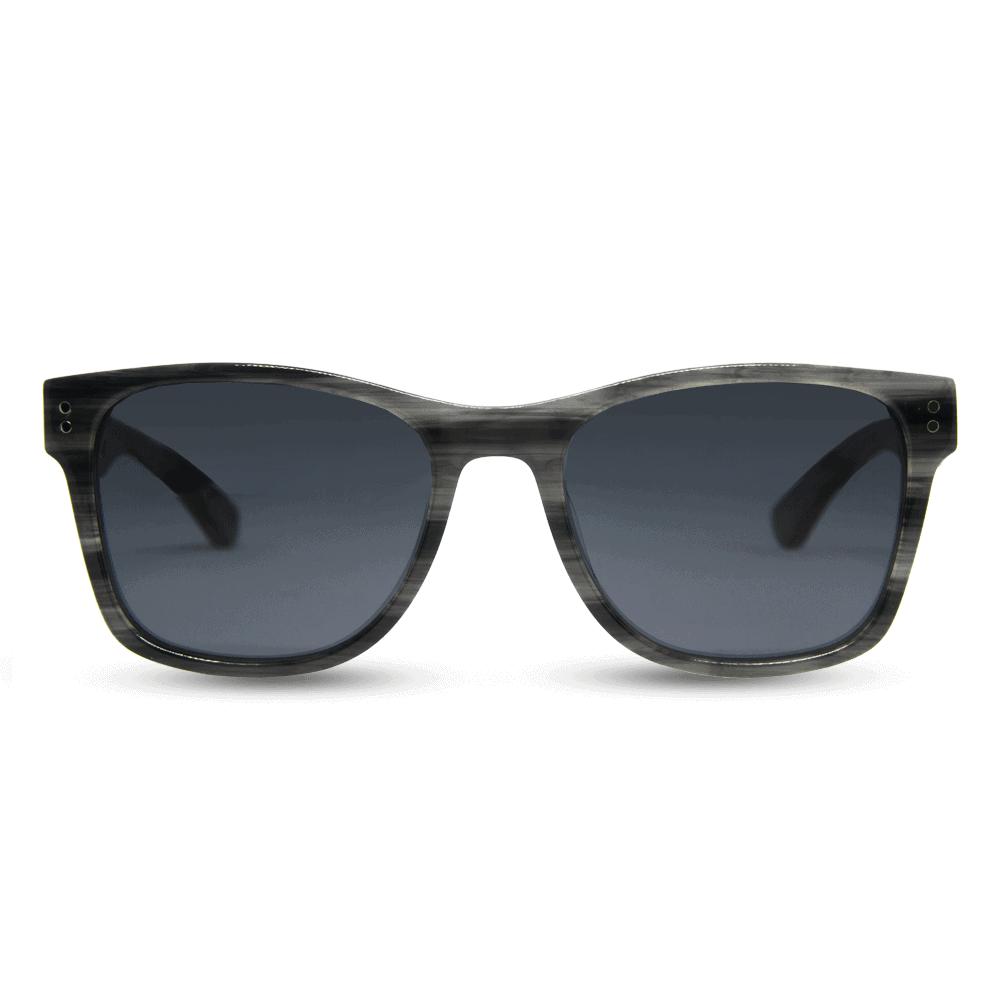 Ora - משקפי שמש מאצטט בצבע אפור וזרועות עץ