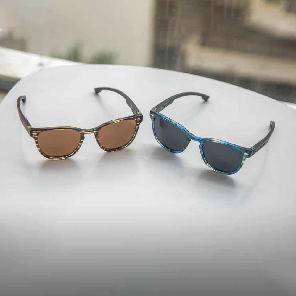 דגם אויסטר - משקפי שמש בצבע כחול וחום